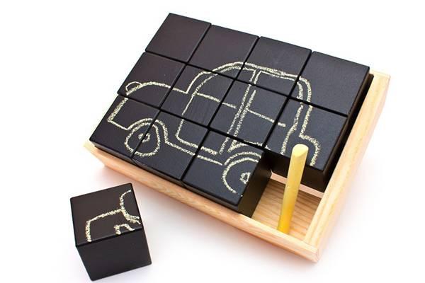 Набор кубиков для рисования мелом, 12 шт